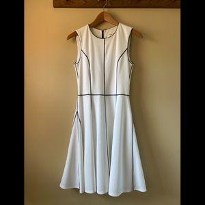 Calvin Klein white midi dress EUC